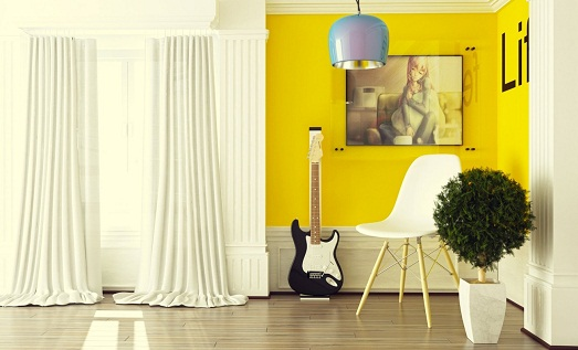 Добавляем желтые краски в интерьер квартиры