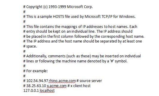 Как изменить файл hosts в Windows 7, XP, Vista: очистка файла hosts