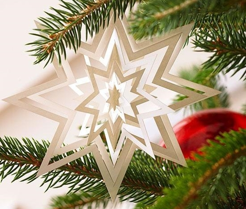 Украшения из бумаги к новому году на класс на потолок