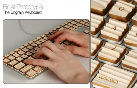 Клавиатура из дерева