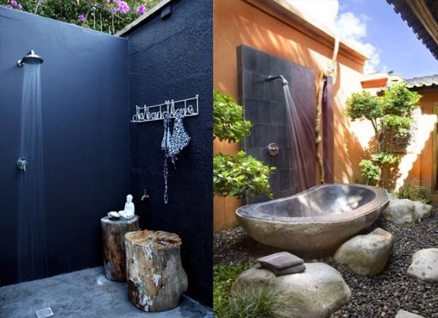 20 идей для открытого душа в саду