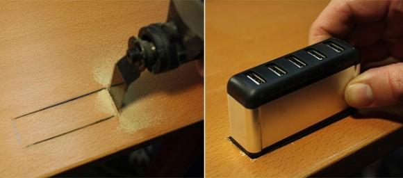 USB-хаб в рабочем столе