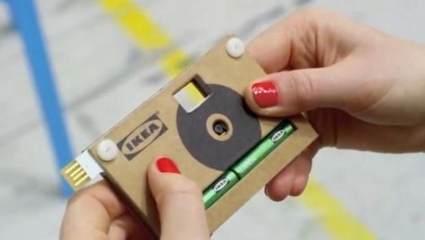 Картонный фотоаппарат от IKEA