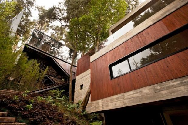 Отель с деревьями