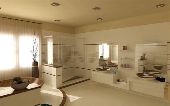 Деревянная ванная комната
