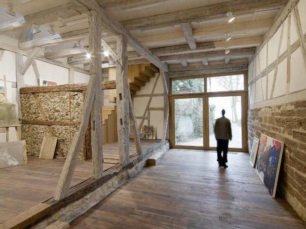 Художественная студия в амбаре