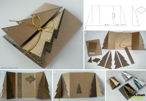 Как сделать новогоднюю открытку