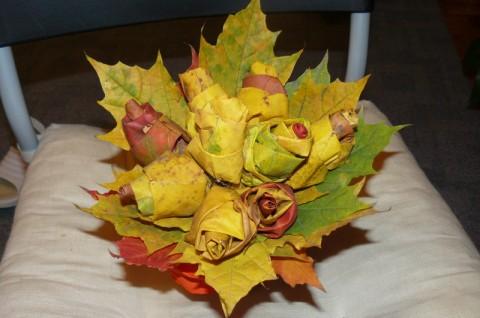Поделки из  листьев своими руками