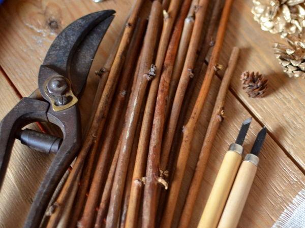 Новогодние поделки изо дров: охапка идей